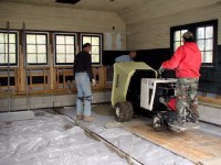 TTT crew pouring new garage floor