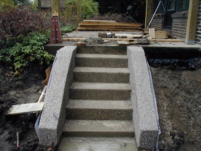 New Terrace steps complete