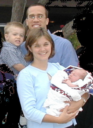Ian Alexander Smith is dedicated at Calvary Chapel on July 14, 2002
