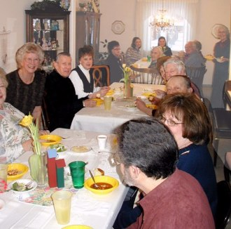 Bethelite Class holds Super Chili & Soup Supper at Hugh and Peggy Tucker's