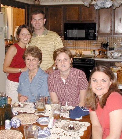 Part of the clan feasting in August '03