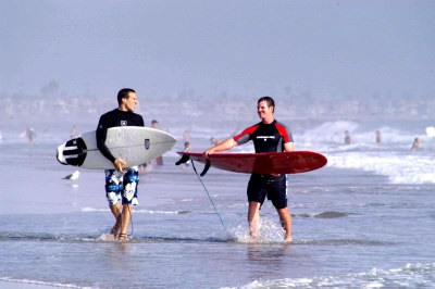 Two brothers after surfing