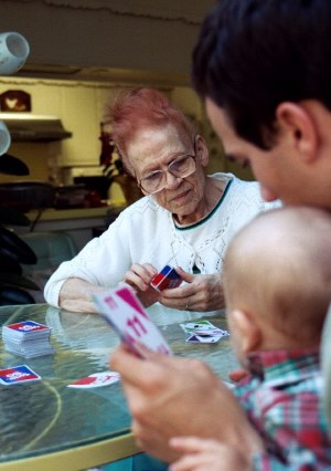 Never too young (or old) for a game of Skip-Bo