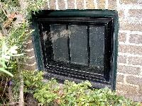 Basement Window 'G' shown with storm